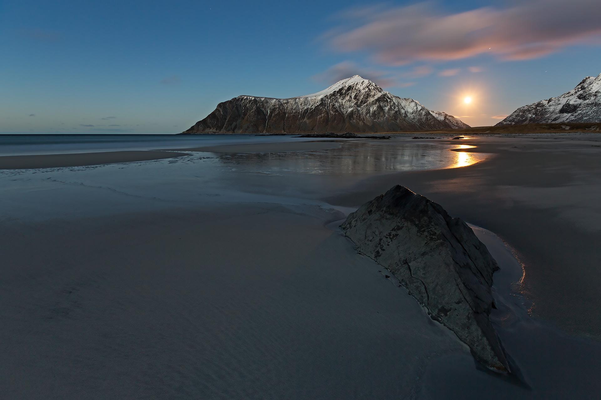 lofoten moon arctic
