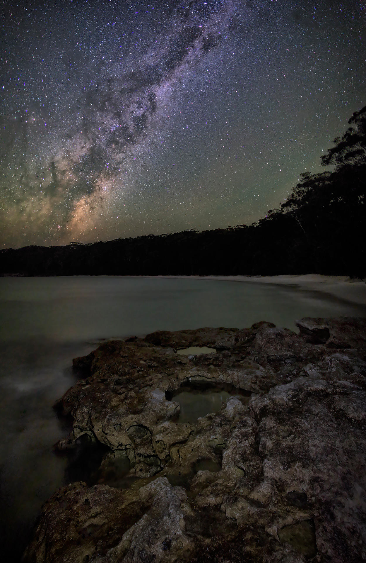 mily way jervis bay night