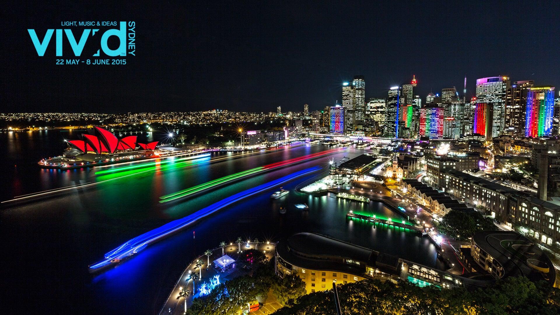 Vivid Sydney 2015 timelapses